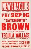 89205 Gatemouth Brown New Era Club Concert Poster 195