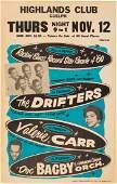 89215 Drifters Highlands Club Concert Poster 1960 W