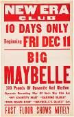 89221 Big Maybelle New Era Club Concert Poster circa