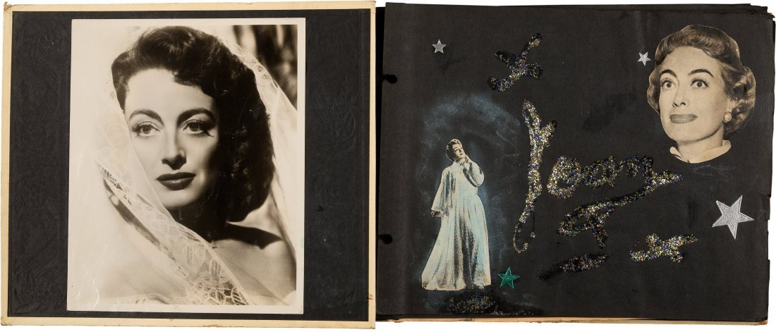 89152: A Joan Crawford Group of Scrapbooks, 1950s. Thre