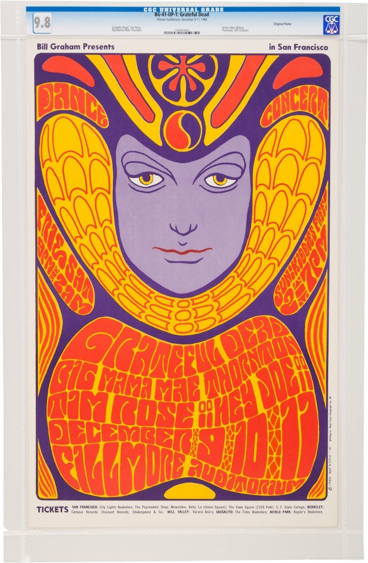 89240: Grateful Dead Fillmore Auditorium Concert Poster