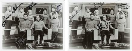 89175 A Pair of CastSigned Black and White Photograph