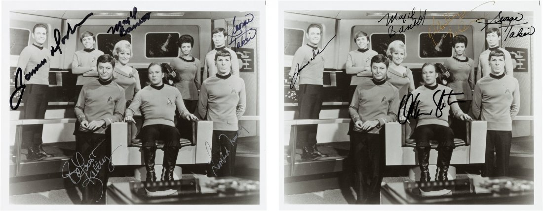 89175: A Pair of Cast-Signed Black and White Photograph