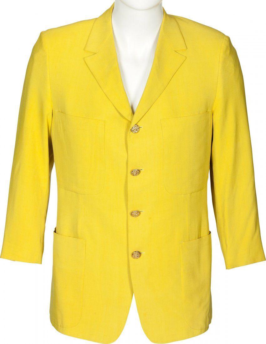 89593: Elton John Tour-Worn Versace Jacket and Signed C