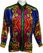 89604 Elton John Worn Versace Shirt and The One RIAA G
