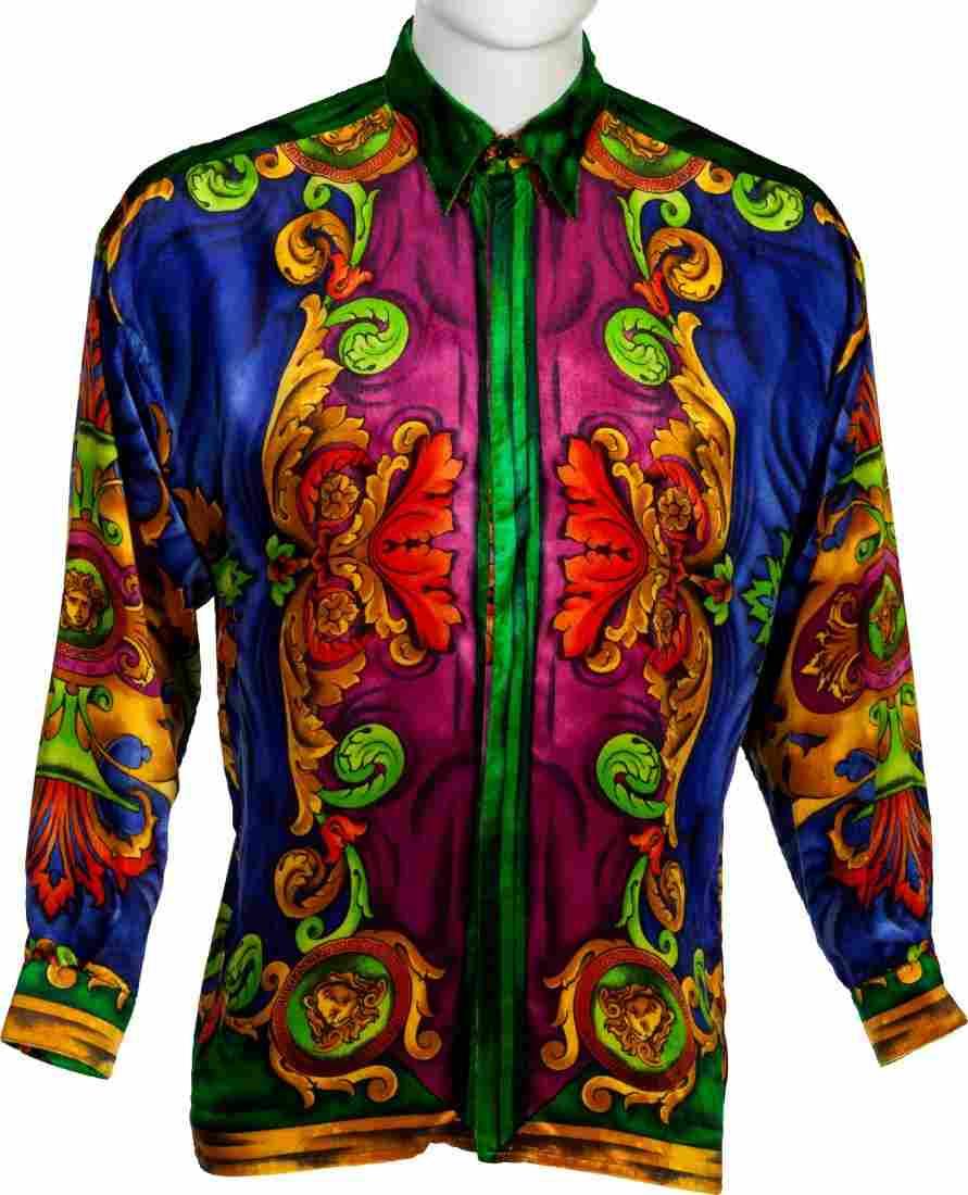 89604: Elton John Worn Versace Shirt and The One RIAA G