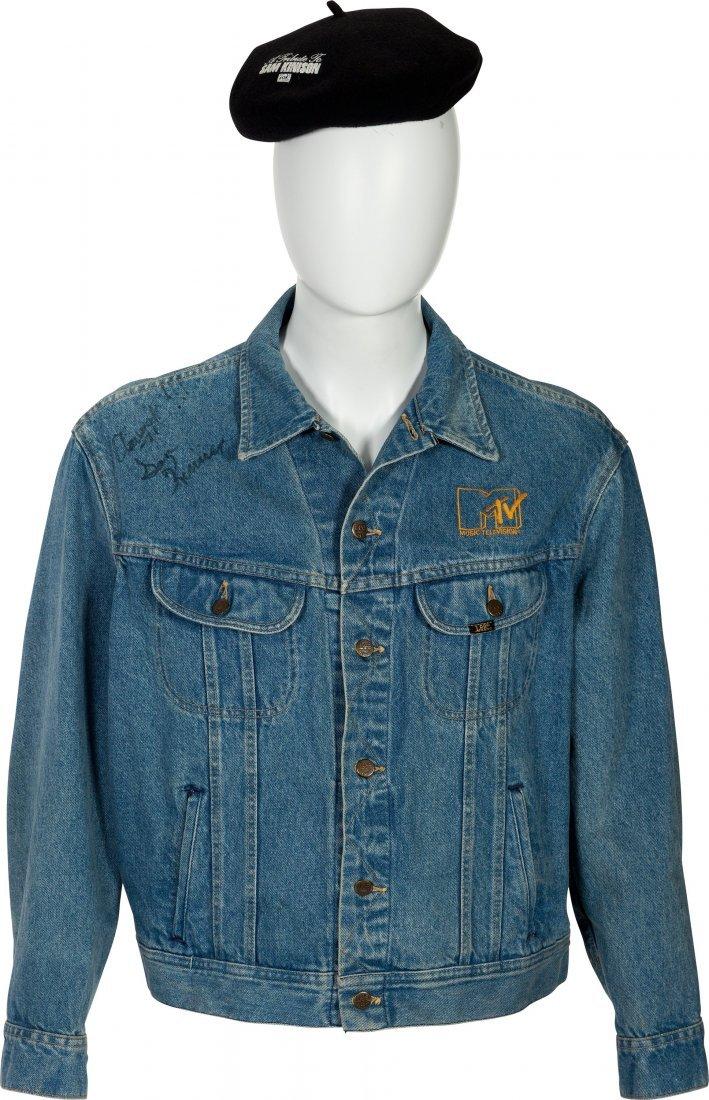 89610: Sam Kinison Signed MTV Headbanger's Ball Jacket.