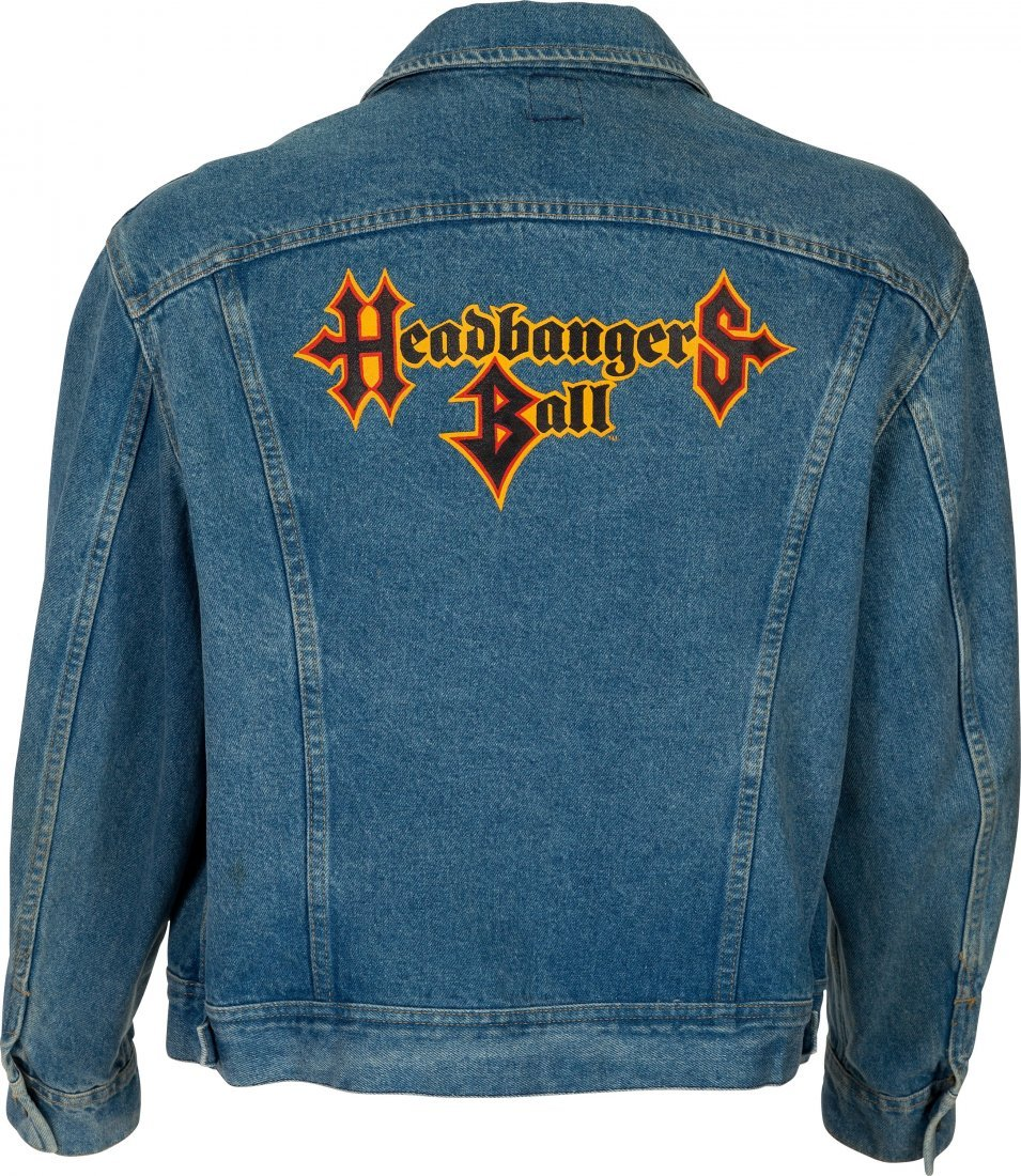 89610: Sam Kinison Signed MTV Headbanger's Ball Jacket. - 3