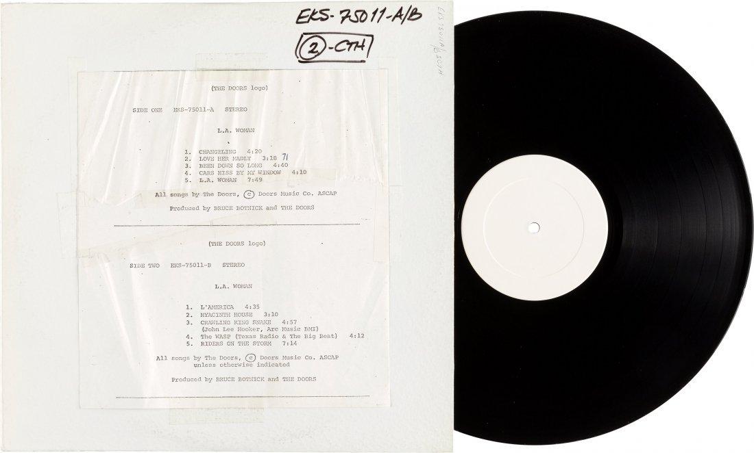 89549: Doors L.A. Woman Rare US Test Pressing Stereo LP