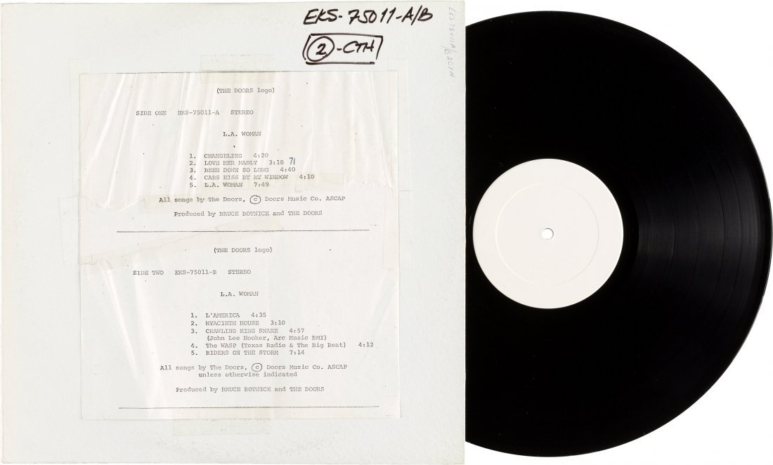 89549: Doors L.A. Woman Rare US Test Pressing Stereo LP