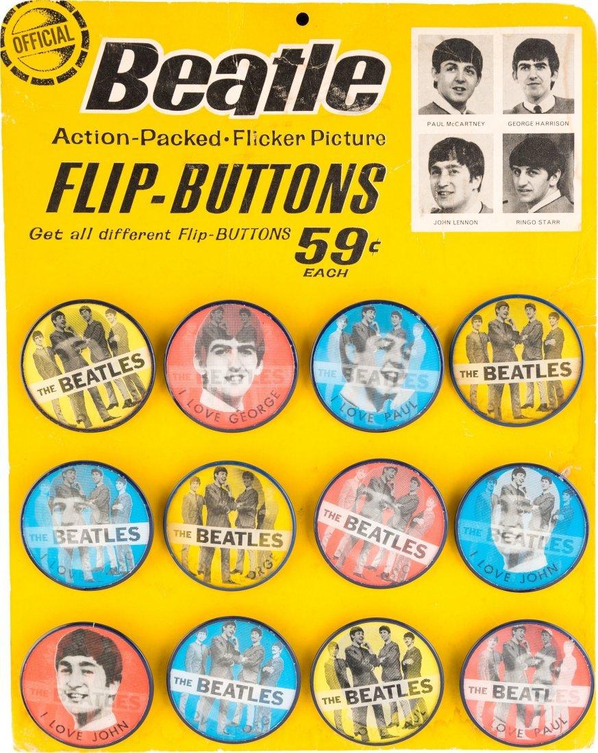 89464: Beatles Original Flasher Buttons Counter Display