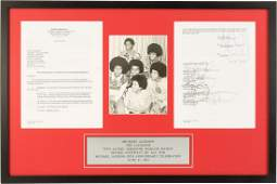 89475 Michael Jackson and the Jacksons Signed Contract