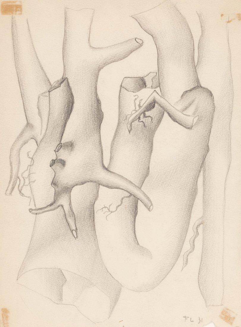 66001: Fernand Léger (1881-1955) Untitled, 1931 Pencil