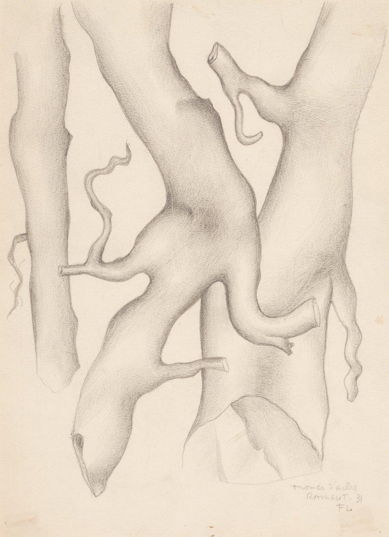 66002: Fernand Léger (1881-1955) Troncs d'arbres, 1931