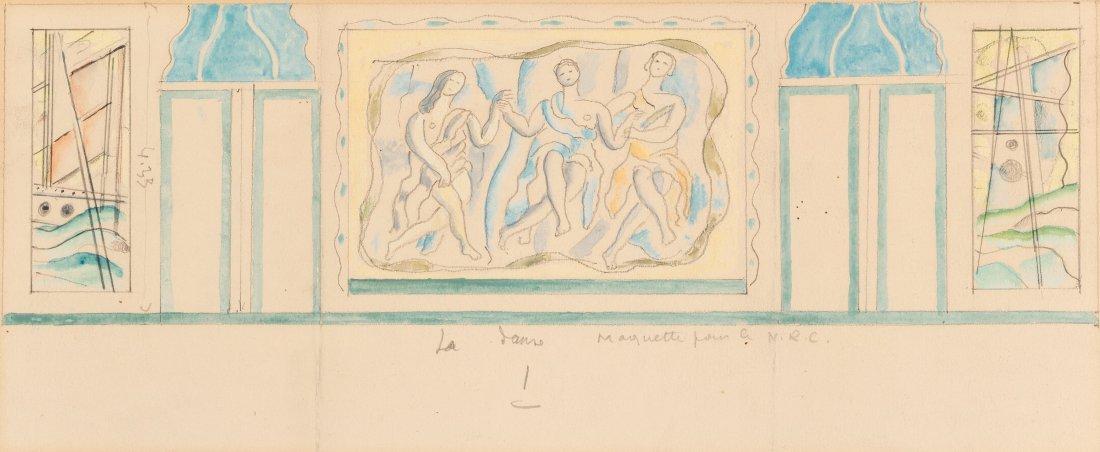 66003: Fernand Léger (1881-1955) La Danse Watercolor a