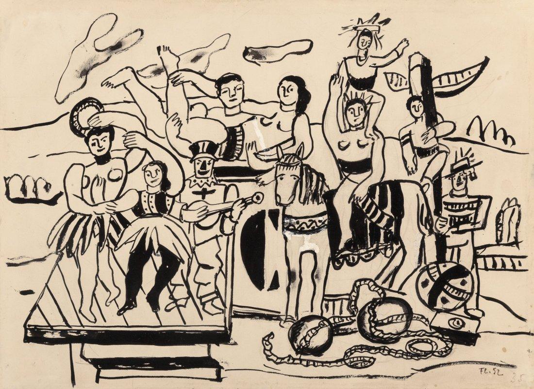 66004: Fernand Léger (1881-1955) Étude pour la Grande