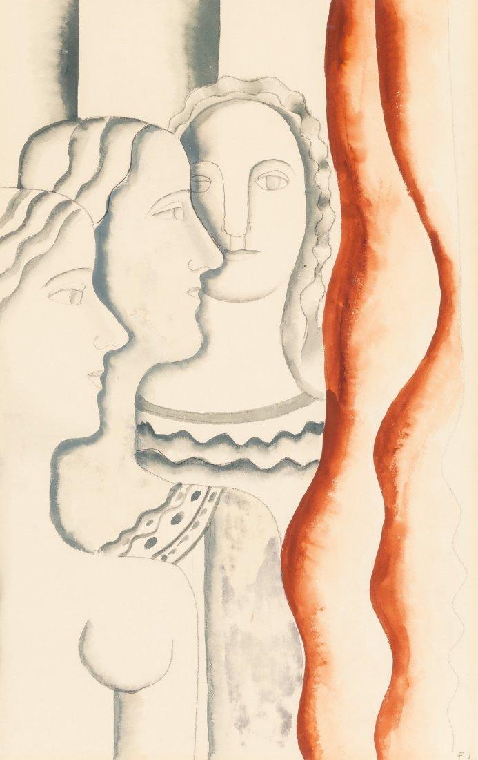 66005: Fernand Léger (1881-1955) Untitled (Three Women