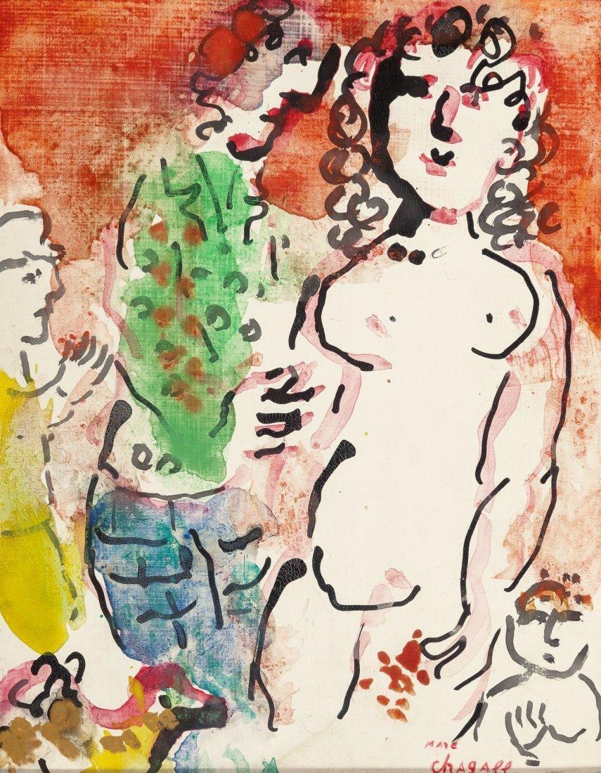 66021: Marc Chagall (1887-1985) Autour de nu, circa 198