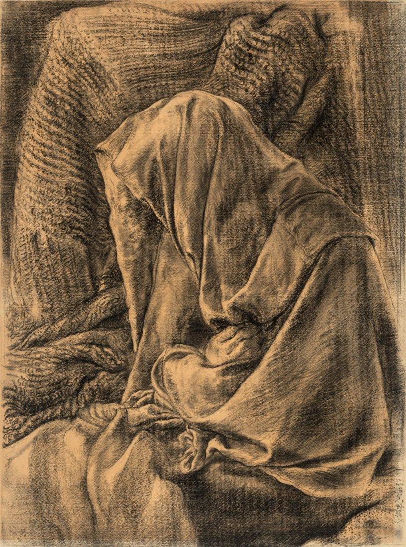 66009: George Grosz (1893-1959) Draped Dummy, 1936 Char