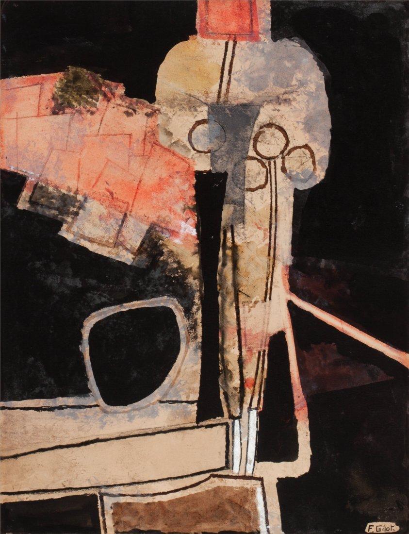 66023: Françoise Gilot (b. 1921) Composition with Vase