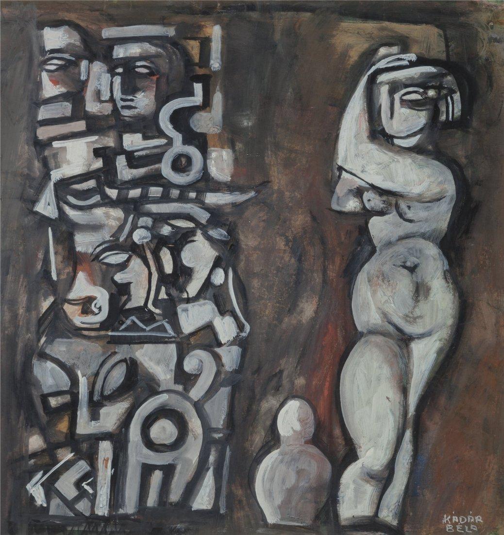 66024: Béla Kádár (1877-1955) Untitled (Nude with To