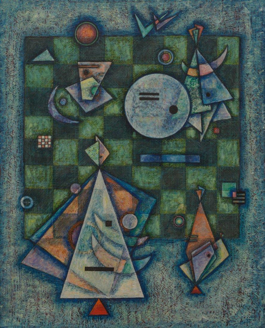 66025: Hannes Beckmann (1909-1977) Ensemble, 1946 Oil o