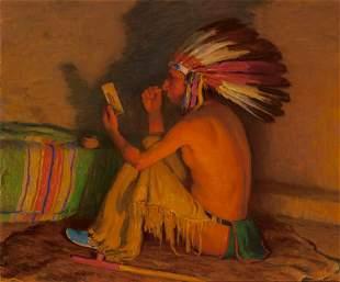 68015: Joseph Henry Sharp (American, 1859-1953) Paintin