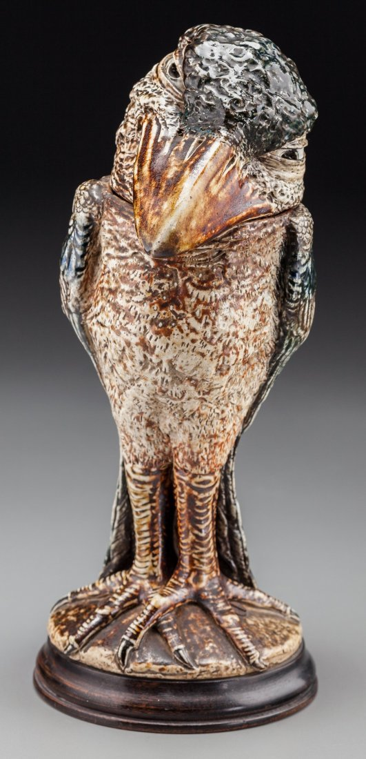 79002: Martin Brothers Glazed Stoneware Grotesque Bird