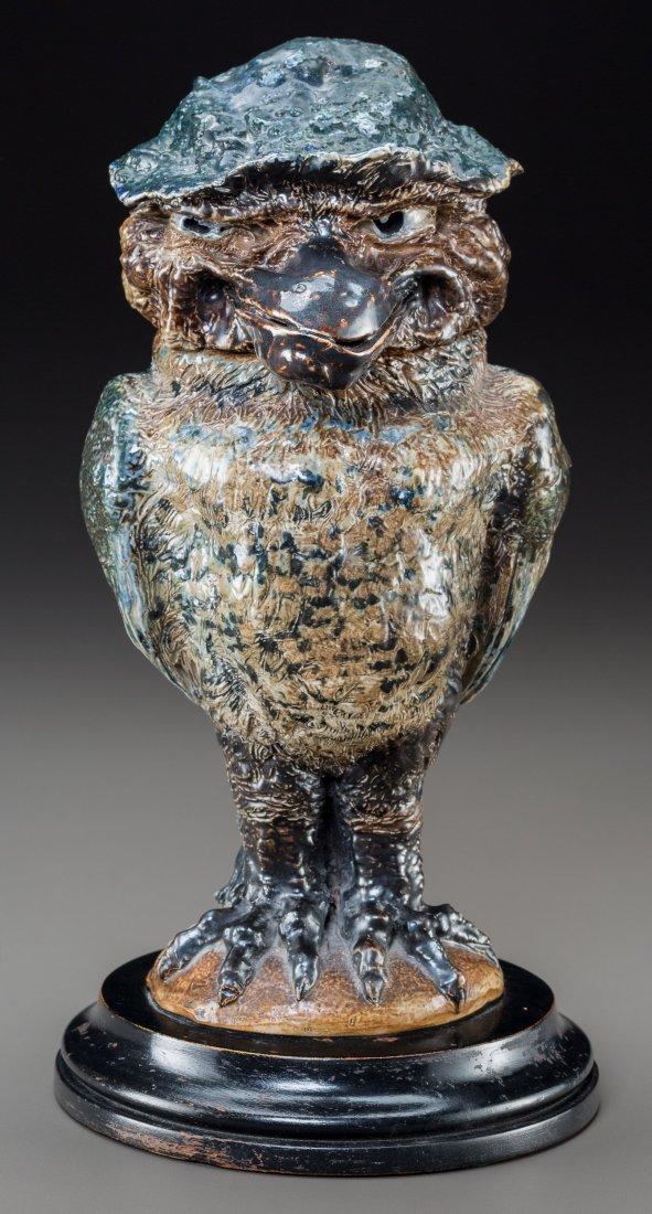 79004: Martin Brothers Glazed Stoneware Leering Hatter