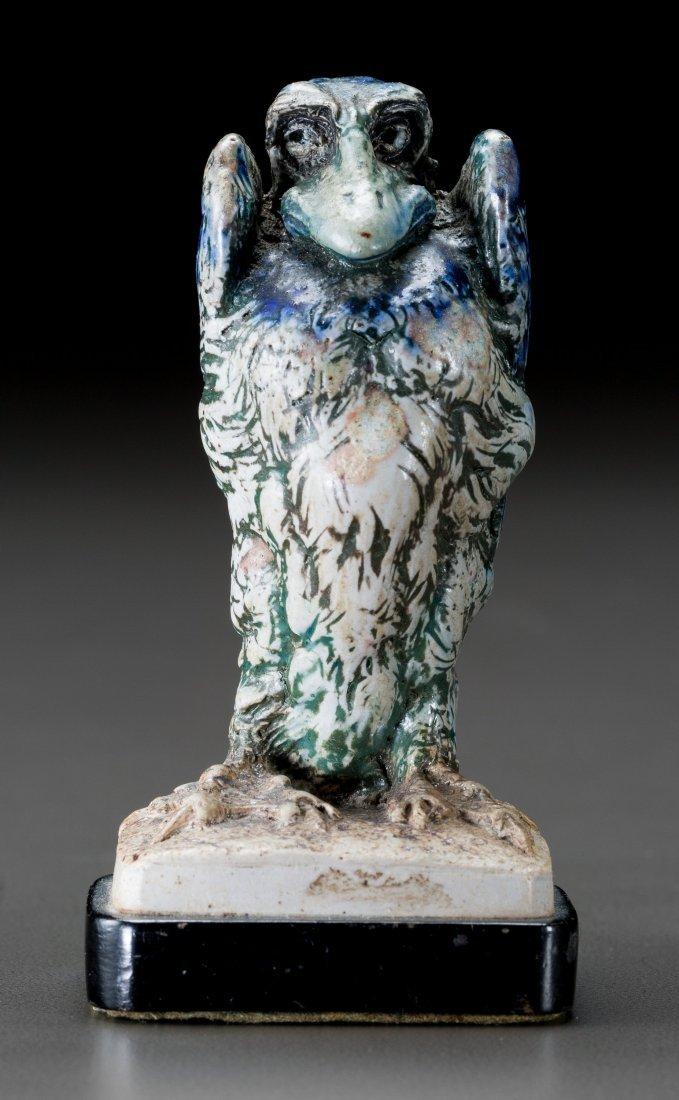 79006: Small Martin Brothers Glazed Stoneware Bird Circ