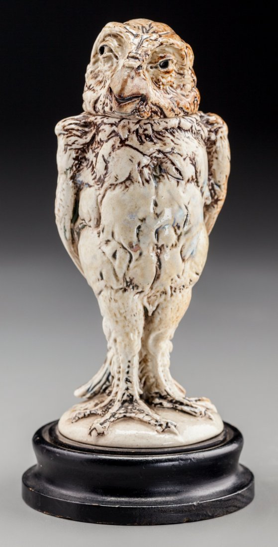 79011: Martin Brothers Glazed Stoneware Quizzical Bird