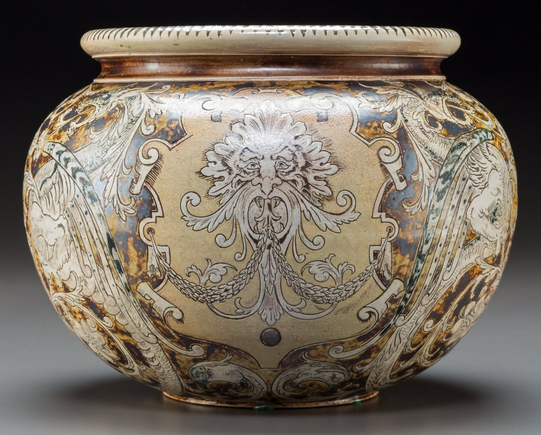 79012: Martin Brothers Renaissance Revival-Style Glazed