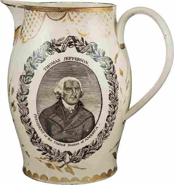 Thomas Jefferson: Impressive Liverpool Creamware