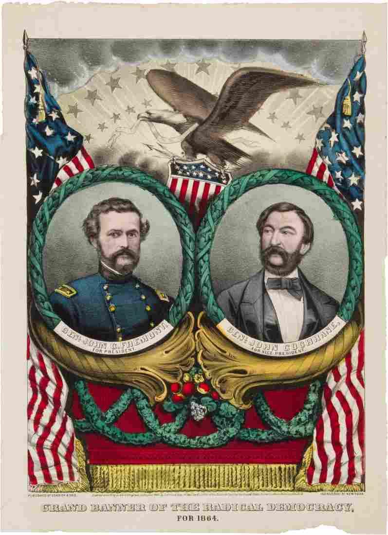 43305: Frémont & Cochrane: 1864 Grand National Banner