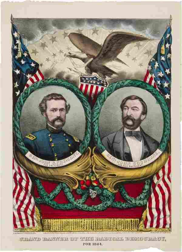 Frémont & Cochrane: 1864 Grand National Banner