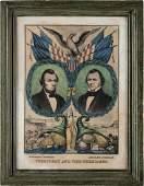 43309: Lincoln & Johnson: Prohibitively Rare 1864 Kello
