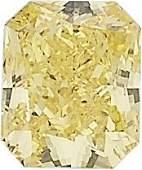 Unmounted Fancy Vivid Yellow Diamond  The cutcornered