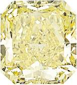 Unmounted Fancy Intense Yellow Diamond  The cutcornere
