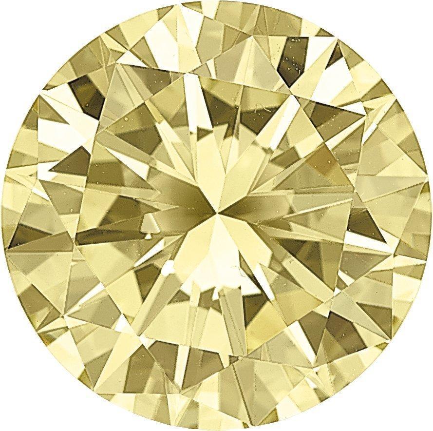 Unmounted Fancy Yellow Diamond  The round brilliant-cut