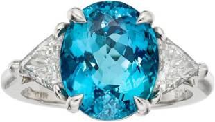 Paraiba Tourmaline, Diamond, Platinum Ring, Tiffany & C