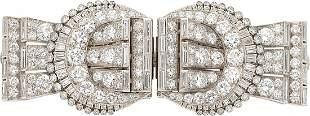 Diamond, Platinum, Double-Clip-Brooch, Tiffany & Co. T