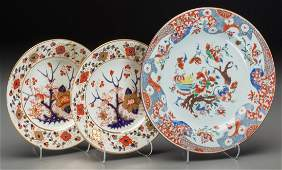 Two Royal Crown Derby Imari Pattern Plates with Chinese