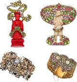 A Collection of Hobe Vintage Costume Jewelry BRACELET D