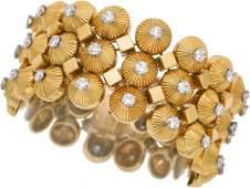 Diamond Platinum Gold Bracelet Cartier French  The