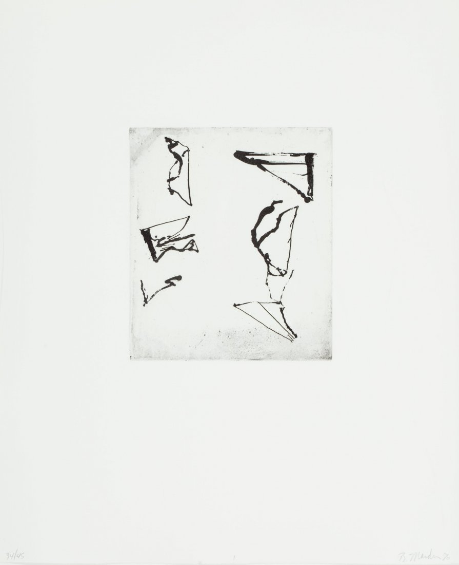 48076: Brice Marden (b. 1938) Etchings to Rexroth, 1, 1