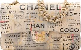 Chanel Limited Edition Beige & Black Hand Painted Lambs