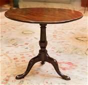 A George III Mahogany Tilt-Top Tea Table, late 18th cen