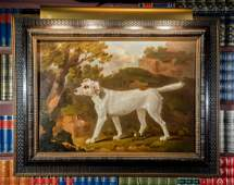 A Hunting Dog Portrait Oil on Canvas  34-1/4 x 44 inche