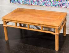 A Chinese Hardwood Low Table 1812 h x 4214 w x 24 d