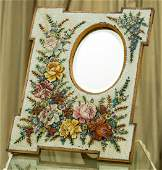 An Italian MicroMosaic Table Mirror with Floral Motif